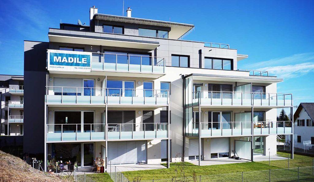 Architekt Omansiek - Architekturbüro Klagenfurt Kärnten WOHNPROJEKT am Kirchenweg in Krumpendorf Bild1