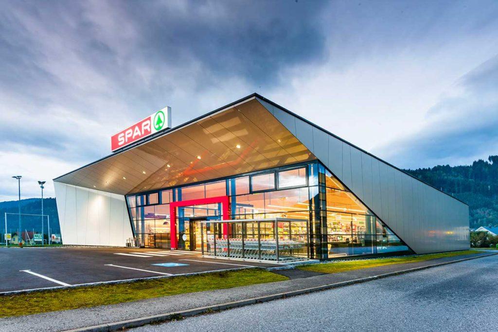 Architekt Omansiek - Architekturbüro Klagenfurt Kärnten NEUERRICHTUNG SPAR SM BAD ST. LEONHARD Bild 3
