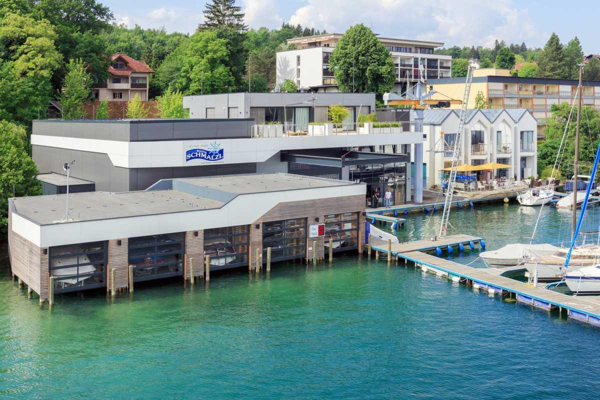 Architekt Omansiek - Architekturbüro Klagenfurt Kärnten Neuerrichtung Bootswerft Schmalzl
