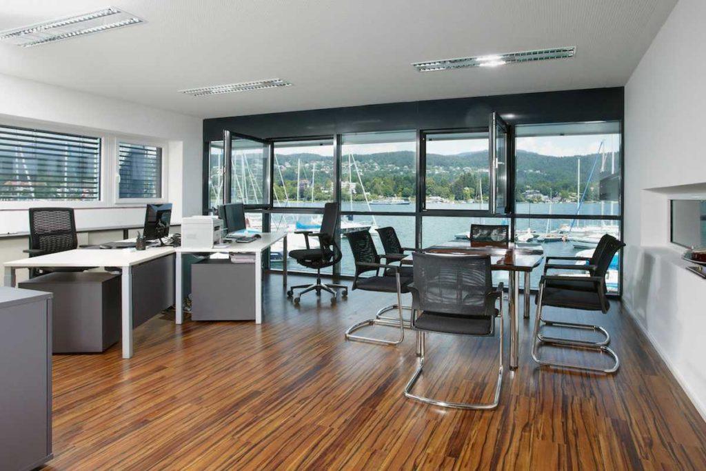 Neuerrichtung Bootswerft Schmalzl Büro